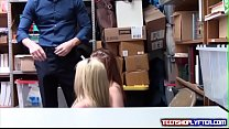Teen and mom Christie Stevens and Nina Nirvana has to fuck their way out of trou preview image