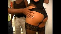 Hot amateur hooker tranny threesome bareback