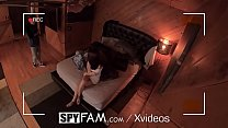 14082 SPYFAM Nosey Step sister SLOBBERS over step bros dick pics preview
