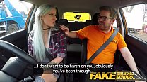 Fake Driving School Busty goth learner in anal ...