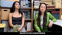 ShopLyfter - Slutty Twin Sisters Get Detained And Bribed By LP Officers Cock