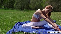 Erotic yoga with beautiful pornstar Alexis Crystal - 4K - XCZECH.com thumbnail