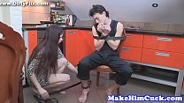 7256 Cuckolding eurobabe banged in the kitchen preview