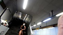 shenanigans on the quarantined city subway, I get naked and masturbate (full video on XVIDEOS.RED)