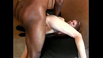 A curly-haired red head with a nice round ass and tight hairy pussy gets stuffed