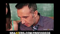 Slutty big-tit schoolgirl Brooklyn Chase is seduced by her prof Preview