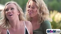 Blonde wife cheats with the hot poolgirl and facesitting her thumbnail