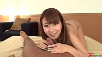 Hitomi Kitagawa uses tits and mouth to stimulate cock - More at Japanesemamas com