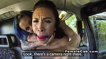 Lesbian cab driver spanking and licking