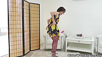 Euro milf Alice Sharp pleasures her pantyhosed ...