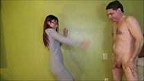 Ballbusting: Mistress Asia Perez kicks brutally...