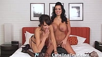 Girlfriends Sienna West and Catalina Cruz ride ...
