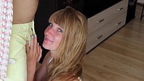 Cute stepsister loves sucking dick to her stepbrother's best friend after school