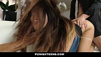 PunishTeens - Secretary (Leila Severine) Punished And Fucked For Stealing