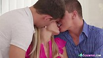 Blonde Angel Joins Two Horny Bisexuals
