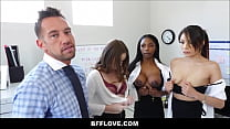 Rad Dad Fucks All Three Of His Son's Future Female Assistants Sarah Banks, Sami Parker And Danni Rivers POV