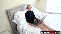 Big ass blonde milf discovers her son watches stepmom porn