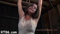 Tormented slave is giving corporalist a lusty blowjob