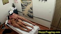 Real asian masseuse giving happy ending