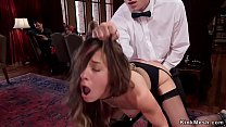 Slaves are rough banged at bdsm party
