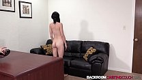 download free shemale ⁃ Young Rachel toys pussy before black couch casting creampie thumbnail