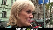Old granny prostitute is picked up and fucked video