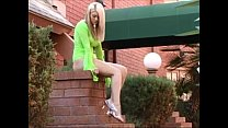 4141594 Alison See Thru Her Green Outfit