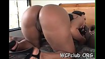 Hottie sucks dick before getting it inside of bald pussy - download porn videos