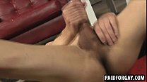Horny straight male tugging his cock for some cash