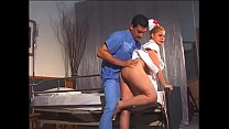 Randy doctor gets to fuck a lusty blonde nurse ...