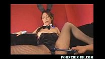Hot Asian in Bunny Costume get Fucked