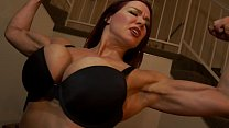 Muscular Secretary Dominates the Boss's Thumb
