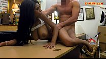 Huge boobs ebony screwed by pawn dude video