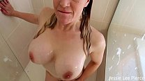 SISTER GIVES PERVERT BROTHERS BLOWJOB IN THE SHOWER FAMILY TABOO POV