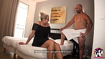 Glasses Beauty Blonde fucks with a strong penis tattooed guy