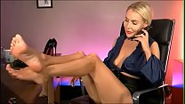 Blonde Secretary Pretty Sexy Feet Part 1- www.prettyfeetvideo.com