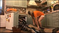 The horny wife  is obstructed by the plumber y the plumber