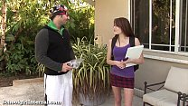 Teen Slut Gets Knocked Up By The Pool Guy!