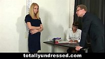 Undressed blonde secretary thumb