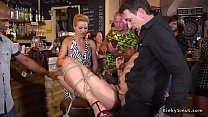 Hot blonde bound and banged in public Thumbnail