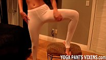 I Will Give You  A Hand In My White Yoga Pants hite Yoga Pants Joi