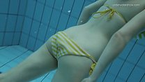 The girl in striped bikini Lada Poleshuk thumb