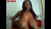 Squirt Milk Of My Huge Nipples, Horny Black Girl On Webcam