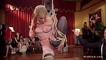 Female slaves orgy fucked at party thumbnail