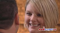 Swinger time for these naughty amateur American couples living together.