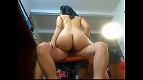 Big Ass Latina loves to ride that cock! www.xxx... thumb