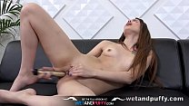 Wetandpuffy - Ella Rosa tempts her XXL pussy lips with lots of sex toys