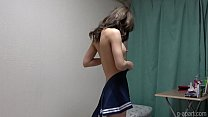 Japanese Schoolgirl Hina Nanase Undressing Her School Uniform