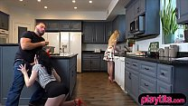 I was horny so I fucked my GFs stepsis in the kitchen - 9Club.Top