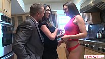 Milf joins husband and mistress in 3some's Thumb
